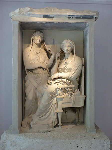 une statue du Céramique