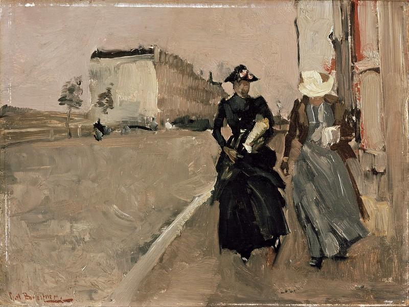 George Breitner - Gust of wind (c.1890)