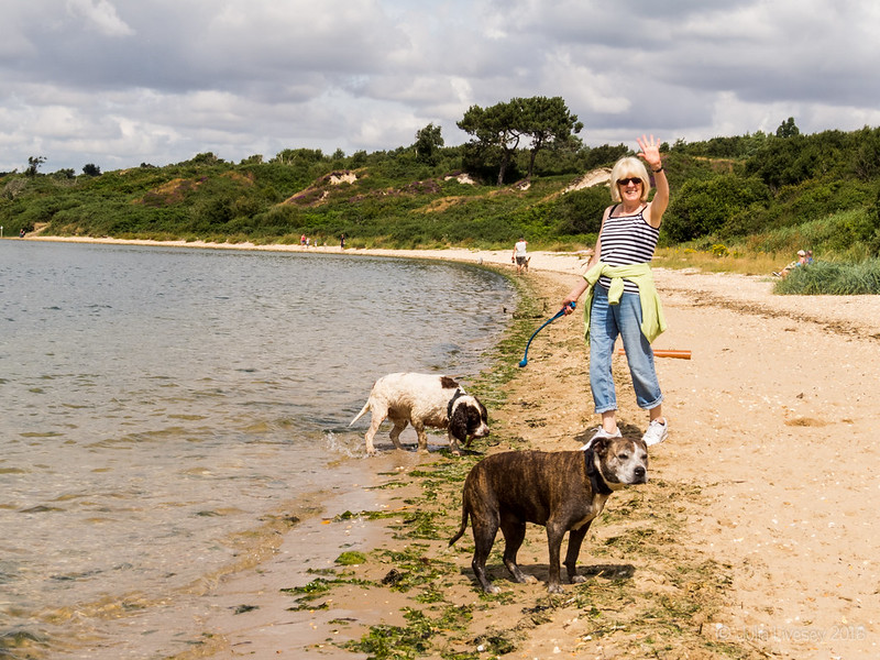 Linda with Jez and Max