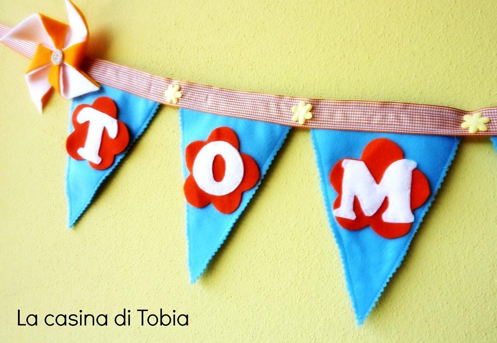 bunting personalizzati bandierine con nome la casina di tobia