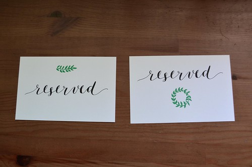 """Reserved"" Calligraphy Signs"