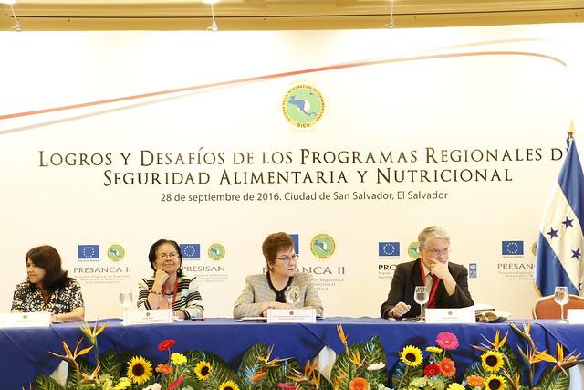 SICA presenta informe de avance en proyectos de Seguridad Alimentaria  y Nutricional