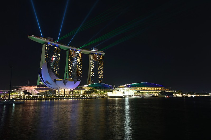 Marina Bay Sands Hotel laser show Wonder Full