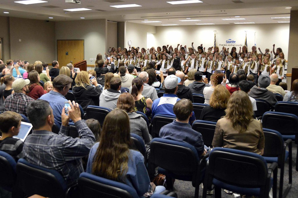 Bennion Elementary Choir performs during October board meeting