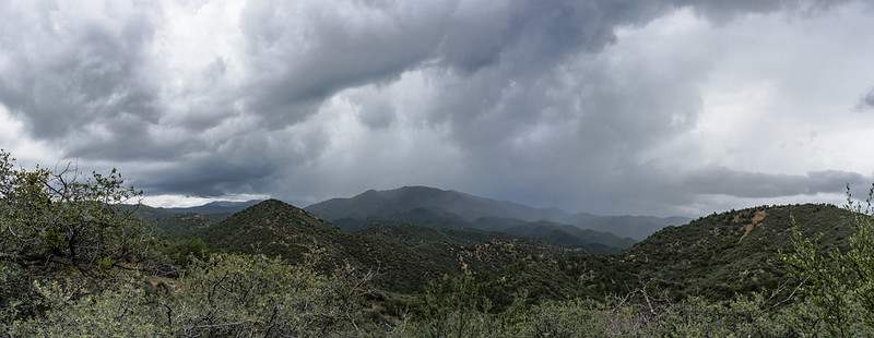 Tropical Storm Newton over Bradshaw Mountains
