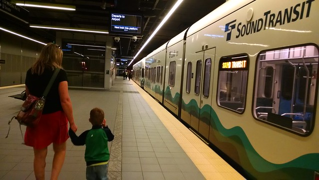 Benji's first light rail!