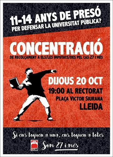 Concentració som 27 i més a Lleida