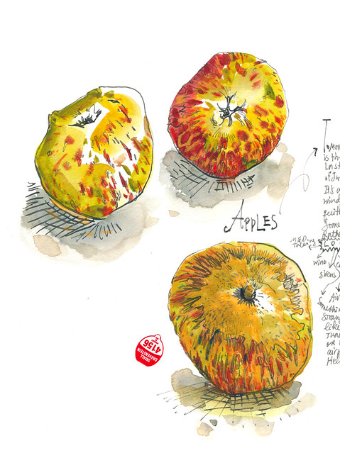 Sketchbook #99: Apples