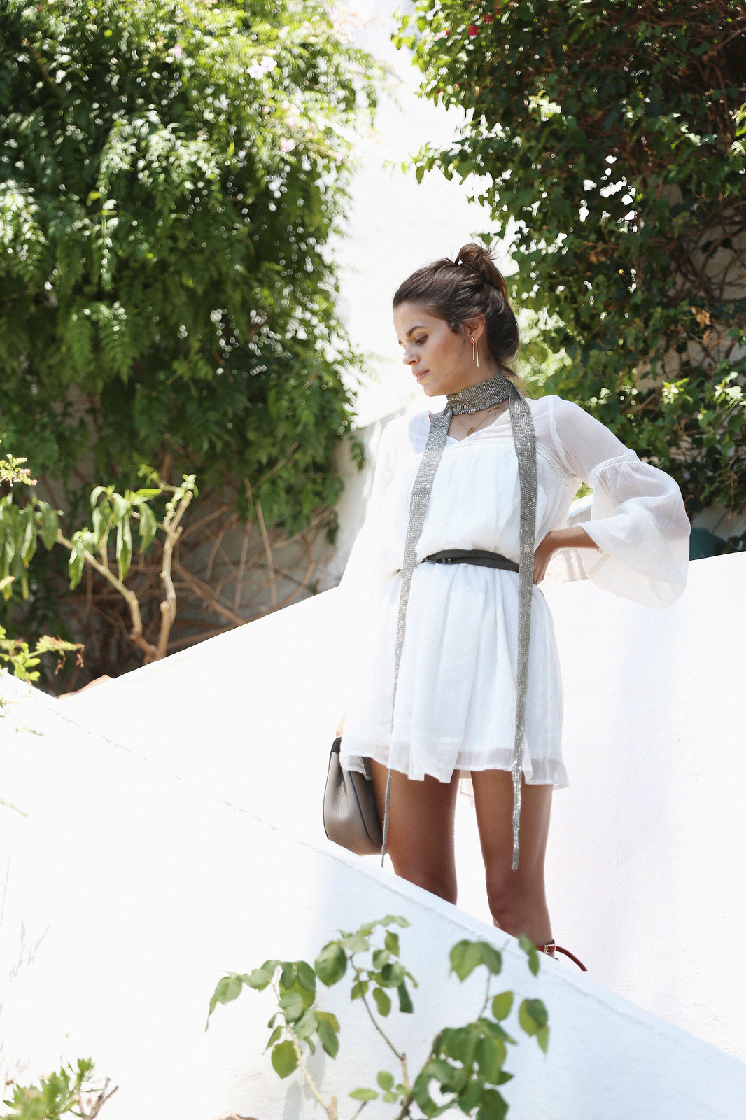 Jessie Chanes Seams for a desire Short White Dress-6