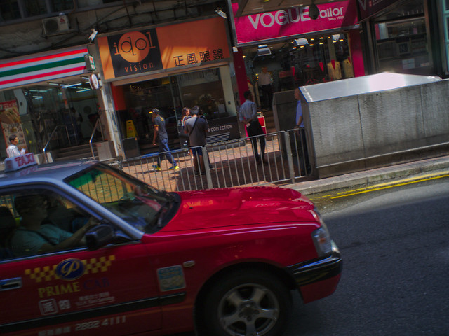 Red HK Taxi
