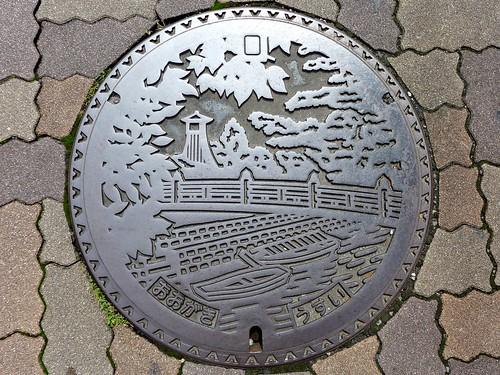 Ogaki Gifu, manhole cover 2 (岐阜県大垣市のマンホール2)