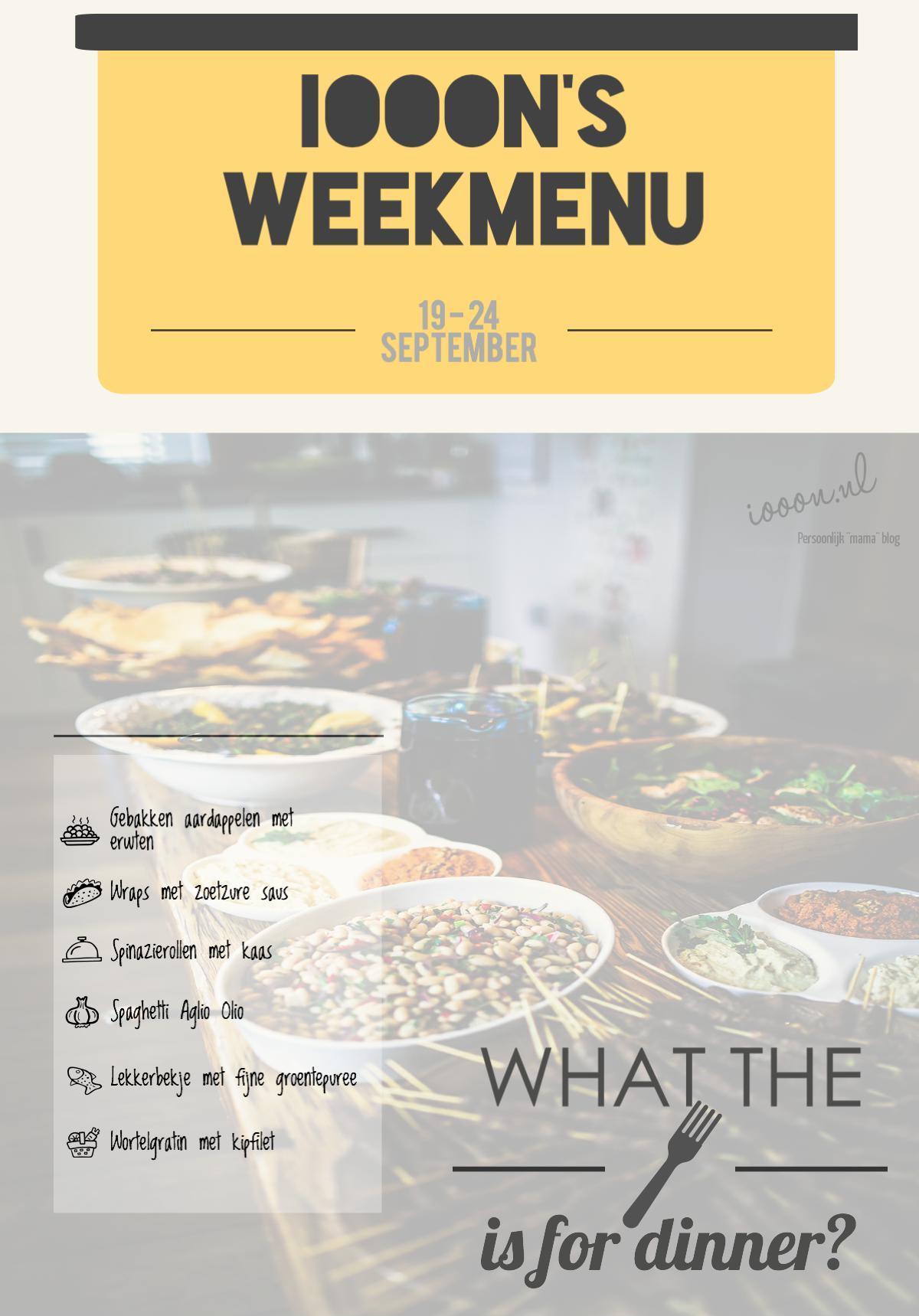 Weekmenu Eten Wat eten we vandaag planning diner avondeten