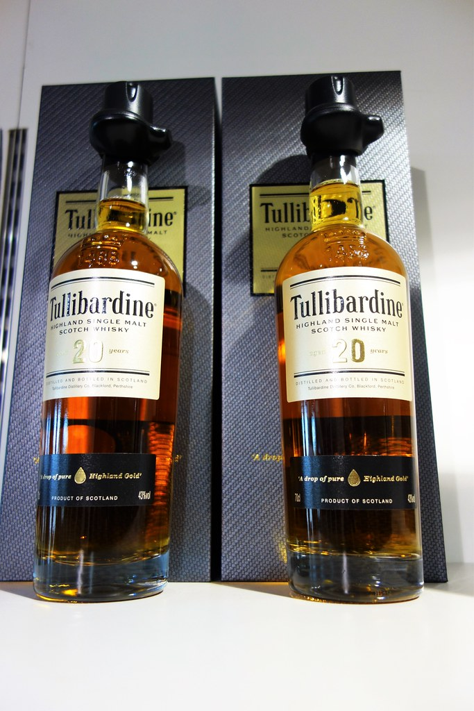 Tullibardine 20 year-old single malt.