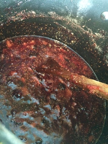 making fig jam