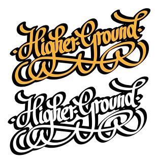 Higher ground tattoo logo pennino calligrafico ink for Higher ground tattoo