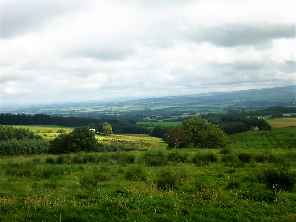 Rolling, green, South Ayrshire landscape.