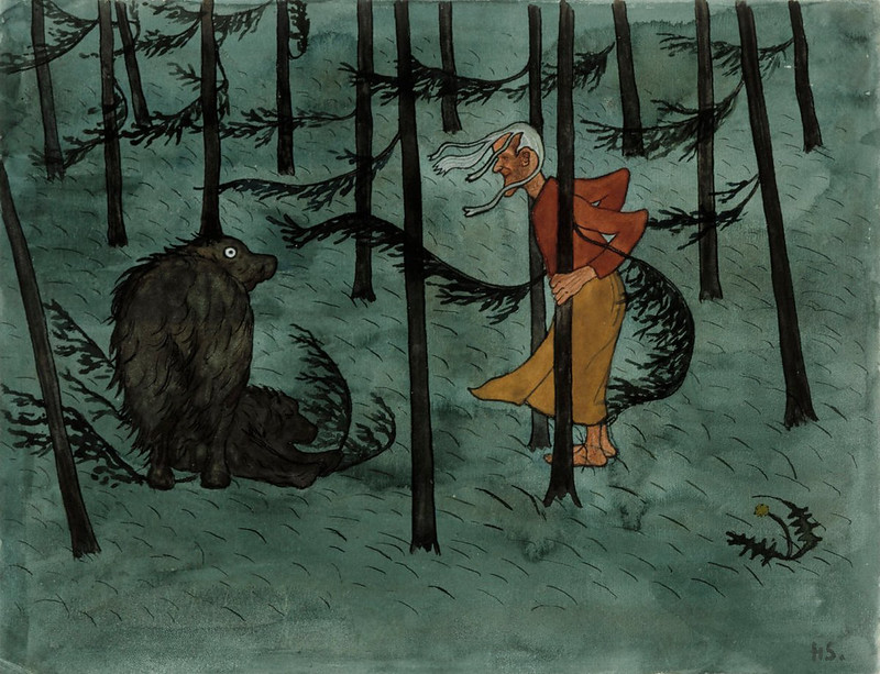 Hugo Simberg - Fear of the Woods, 1896.