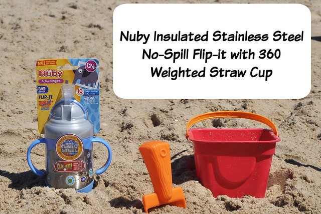Nuby Insulated Stainless Steel No-Spill Flip-it with 360 Weighted Straw cup review