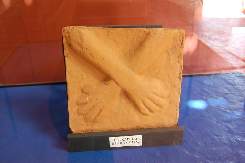 Replica of Las Manos Cruzadas, Museum, Kotosh, Huánuco, Peru