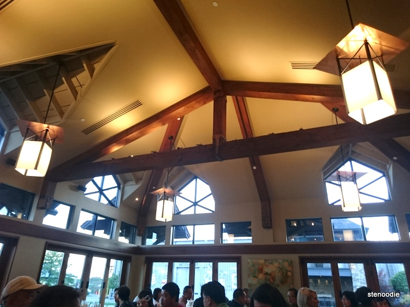 Trius Winery restaurant ceilings