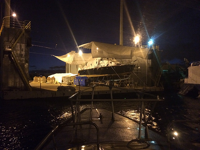 Admiral's Barge hauled out