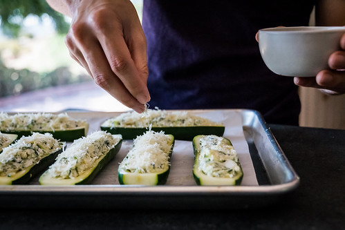 sprinkling the tops with freshly-grated parmesan