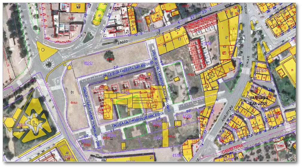 Comparación de archivo CAD con Catastro y PNOA