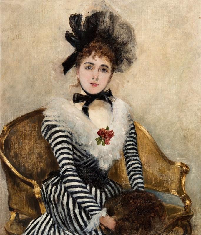 José Tomás Errázuriz - Retrato de Eugenia Huici