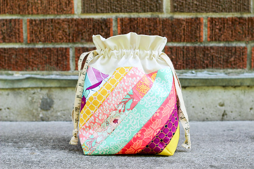 Diagonal Stripes Drawstring Bag | by Jeni Baker | In Color Order