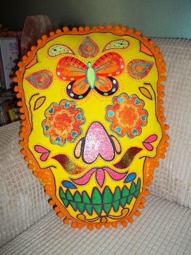 Sugar Skull Cushion | by The Evil Thread aka CushionRock