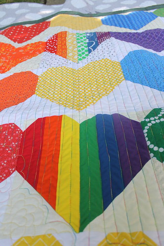 #quiltsforpulse #ohcraft made this quilt to donate to families and survivors of the Pulse Nightclub Shooting