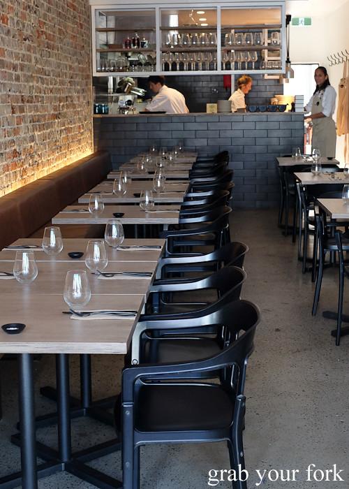 Dining room and waitstaff at Saint Peter by Chef Josh Niland in Paddington Sydney