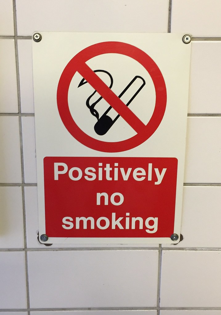 Positively no smoking