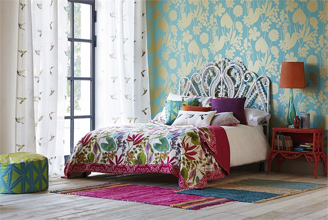 Harlequin Amazilia Fabrics and Wallpaper on Living After Midnite Jackie Giardina | Home Decor Interior Decorating Inspiration | Floral