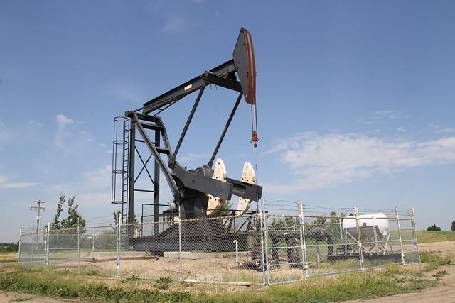 Pumpjack near Edmonton, Alberta.