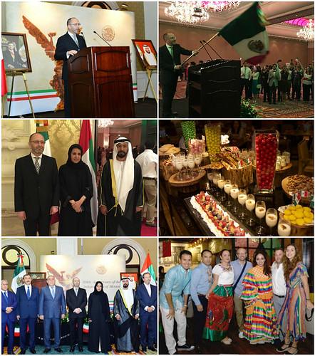 Celebración del Día de la Independencia de México en Dubái