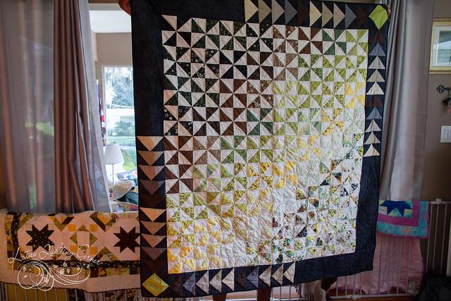 Origins Half-Square Triangle Quilt