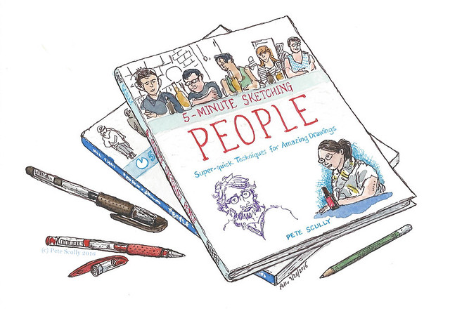 5 minute sketching people, by pete scully