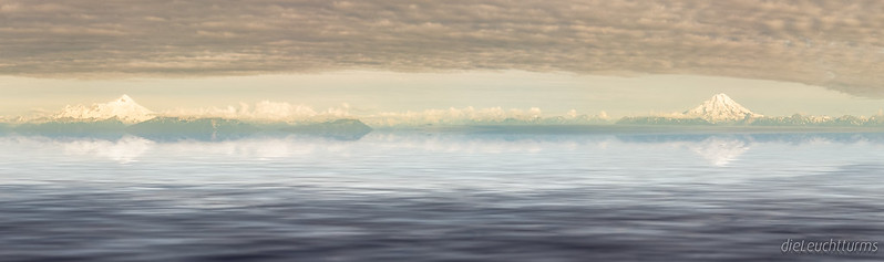 Reflections of Chigmit Mountains in Cook Inlet