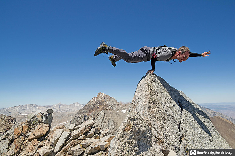 Posing on the summit of Mt Emerson (13,204ft) after soloing the E ridge.