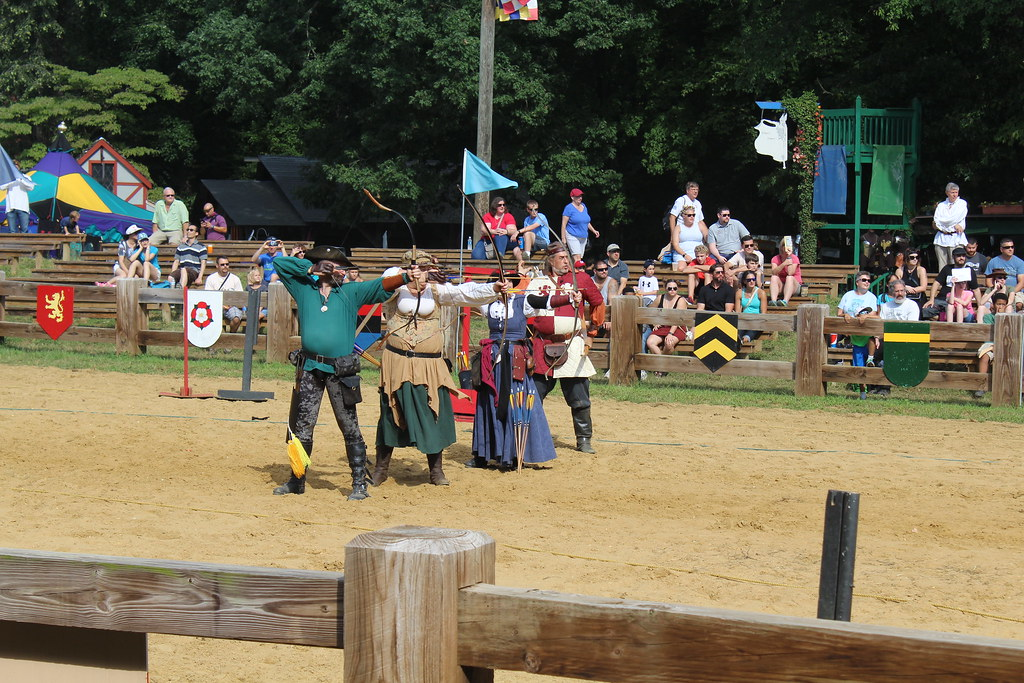 Archery at the Maryland Renaissance fair