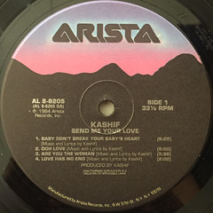 KASHIF:SEND ME YOUR LOVE(LABEL SIDE-A)