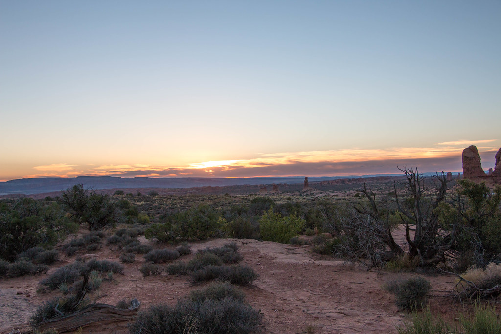 Sunset at Windows Trail Loop