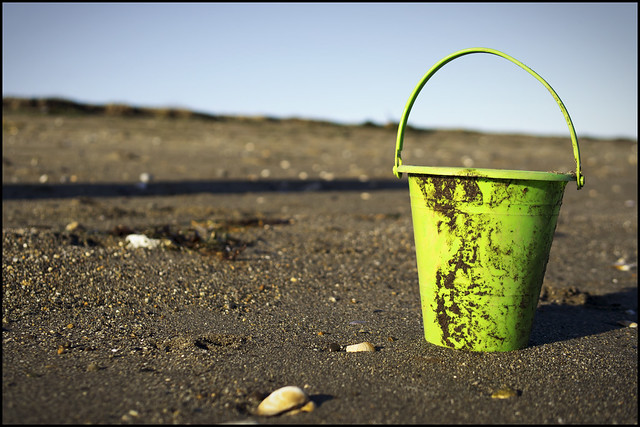 Pail on the sand