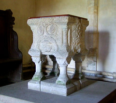Shernborne font: south-east corner