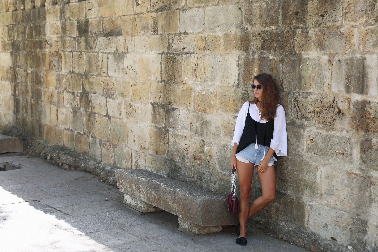 Jessie Chanes Seams for a desire Lisboa Parfois Black Lace Top-10