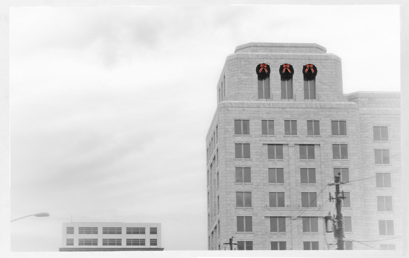 3 Wreaths on the Federal Reserve Bank, Midtown Atlanta