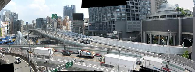 湊町リバープレイスと阪神高速の立体道路 (5)