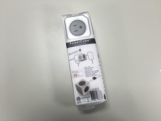 包裝背面會示範如何壁掛@PowerCube USB延長線