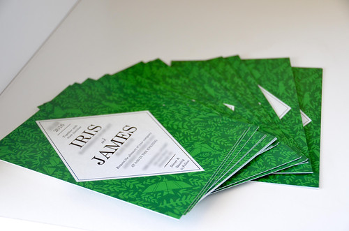 Stack of Wedding Invitations